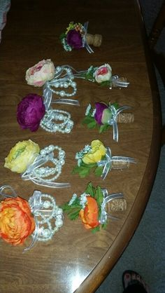 Wrist Corsages & boutineers for Rustic Wedding