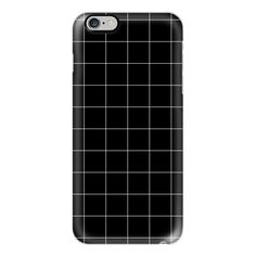 iPhone 6 Plus/6/5/5s/5c Case - White Grid on Black ($40) ❤ liked on Polyvore featuring accessories, tech accessories, phone cases, fillers, phones, iphone, iphone case, apple iphone cases, white iphone case and iphone cover case