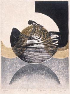 Water Music V, 1971. Iwami Reika, Woodblock print. LACMA Collections