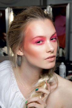 #Pink #Makeup #Beauty #Braid #Model #Runway #Backstage #Style #Fashion #BiographyInspiration