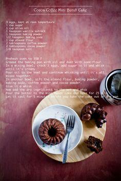 Cocoa Coffee Bundt Cake