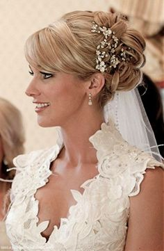 wedding hairstyles with veil and blusher : Wedding Hairstyles Ideas