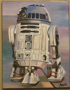 Original CRISP Limited BB 8 R2d2 Star Wars Pop Art Sign Graffiti