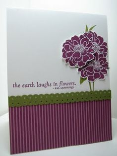 MONDAY, MAY 9, 2011 Goin' Over The Edge: Fabulous Florets in Rich Razzleberry...