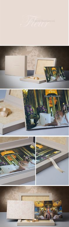 Fleur, this special book was made for David Bastianoni. The Class Leatherette material in cream and gray lilac fits perfectly with the images of the photographer, the final result is stunning. #graphistudio #weddingbook #youngbook #design