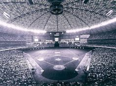 The Houston Astrodome was the world's first domed sports stadium and opened in 1965.