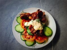 Lamb Chops with Harissa Yoghurt Sauce