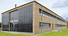 Opitz Holzbau, Neuruppin, Germany - BIPVs - Building Integrated Photovoltaics used in glass facade