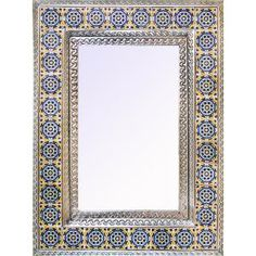 NEW! Mexico has long been renowned for its beautiful and uniquely original tin mirror frames, and La Fuente Imports is proud to offer the largest selection available anywhere on the web! Each frame is hand made by artisan families in the stunning colonial cities of central Mexico. The highly artistic and decorative designs featured on these pages reflect the strong traditions and expert craftsmanship of the artists.