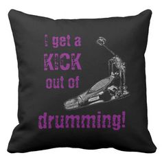 Cool Drummer Pillow Kick Drum Drumming Decor