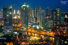View of Rockwell from Mandaluyong - Philippines