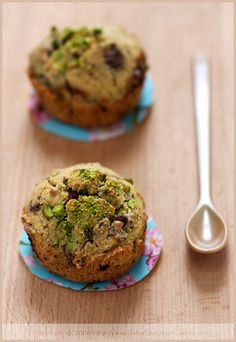 Dark Chocolate & Pistachio muffins