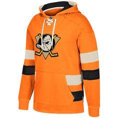 Men s Anaheim Ducks CCM Orange Jersey Pullover Hoodie    94.99 Camisetas 7187373840073