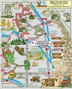 Monument Colorado, Colorado Trail, Colorado Springs, Colorado Places To Visit, Colorado Tourism, Road Trip Map, Road Trips, Jeep Trails, Atv Riding