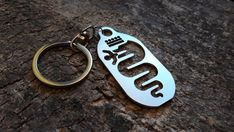 Alfa Romeo, Key Tags, Steel Sheet, Spring Steel, Handmade Items, House Numbers, Personalized Items, Chain, Keychains