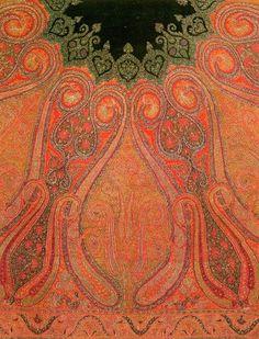 Kani paisley Kashmir shawl, India, c.1860 Motif Cachemire, Décoration  Indienne, 4388a3c9e0f