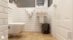 EKLEKTYCZNY DOM - Mała łazienka w bloku bez okna, styl eklektyczny - zdjęcie od PEKA STUDIO