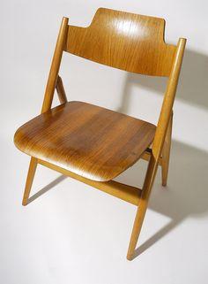 Egon Eiermann 50's Bent Plywood Chair by meritandworth on Etsy, $425.00