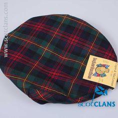 Pure wool cap in Logan Modern tartan - from ScotClans