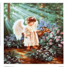 Image detail for -Angels Paintings, Art, Angels Oil Painting, Angel-s-Blessing.jpg