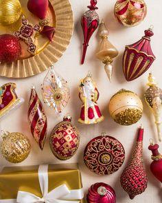 Noel Glass Ornament Set | Balsam Hill