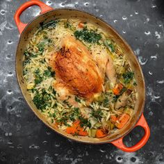 Nigella Lawson Chicken In A Pot with Lemon and Orzo One Pot Dishes, Main Dishes, Chefs, 21 Day Fix, Chicken Recipes, Nigella Lawson Recipes Chicken, Nigella Lawson Orzo, Nigella Lawson Recipes Healthy, Chicken Ideas