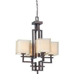 4 light chandelier