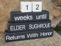 Missionary Gift Countdown Blocks Return by DaisyBlossomCreation