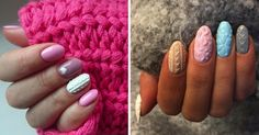 Cable Knit Nails Are The Coziest Trend This Winter