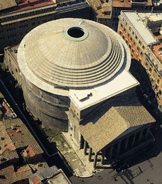 Pantheon (aerial view), Rome, Italy. One of the most amazing creations of Roman architecture