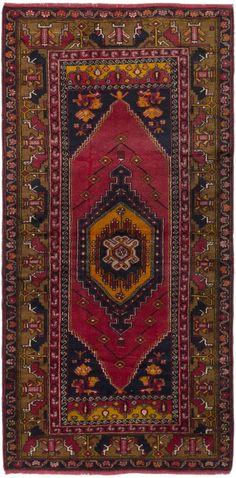 "4'1"" x 8'4"" Vintage Turkish Anatolian Rug"