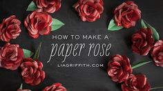 "How to Make a Paper Roses...makes me want to sing...""Paper roses,,they're only imitation like your imitation love for me.""  HA!"