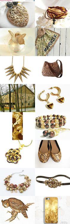Earthy Hues by rosity on Etsy--Pinned with TreasuryPin.com #jewelryonetsy #jewelry #jewellery #gold #Sumerta #treasury