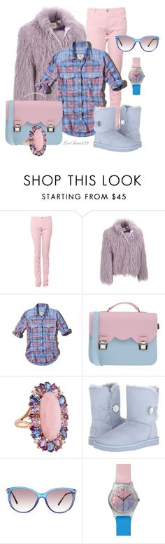 """pink purple blue contest"" by leeann829 ❤ liked on Polyvore featuring Armani Jeans, Abercrombie & Fitch, La Cartella, UGG Australia, Burberry and May28th"
