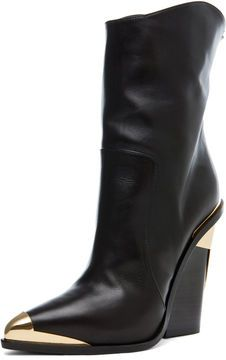 VERSACE Booties in Black on shopstyle.com