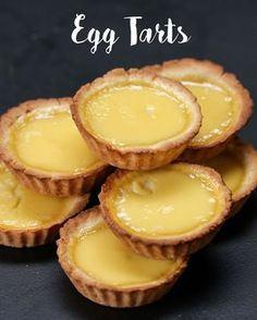 These Hong Kong-Style Egg Tarts And Try Not To Melt Just absolutely stunningly beautiful. But Video and Recipe do not match - need some . But Video and Recipe do not match - need some . Asian Desserts, Just Desserts, Delicious Desserts, Yummy Food, Chinese Desserts, Chinese Food, Tart Recipes, Baking Recipes, Sweet Recipes