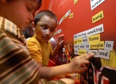 Idea for interactive poetry display. Children engage with the story of the Great Fire