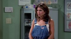 The One With The Overalls: | Community Post: 30 Times Rachel Green Proved She Was The Most Stylish Friend