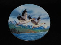 """1990 Dominion China Birds of the North """"Winter Wings: Snow Geese"""" Collector…"""