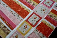 Heather Ross quilt - sweet. Love the idea need to do something with my Sherbet pips and Little apples material.