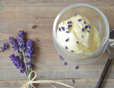 My favorite dessert to treat myself with is fresh Lavender Ice Cream
