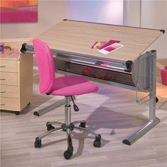Schreibtisch Ibo Ahorn Dekor MDF/Metall