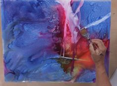 Preview Watercolor Painting on YUPO® with Mark Mehaffey: Painting Waterfalls now to learn how to mix colors on the paper itself to create vi...