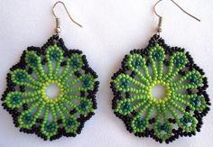 Mexican Huichol Beaded Earrings van Aramara op Etsy