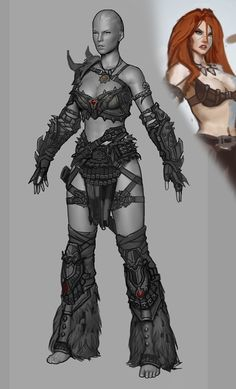 Barbarian Female for Diablo III - Polycount Forum Barbarian Armor, Barbarian Woman, Female Centaur, Female Armor, Character Outfits, Game Character, Character Design, Shadar Kai, Dragon's Dogma