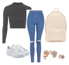 """Untitled #40"" by smithe29 on Polyvore featuring Topshop, adidas Originals, PB 0110 and GUESS"
