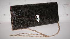 Daisy Spade Snake Head Clutch evening bag