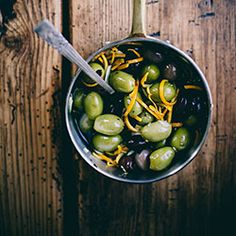 Spicy Fennel & Orange Marinated Olives {recipe}