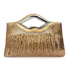 Elegant Women's Evening Bag With Ruffled and Sequined Design