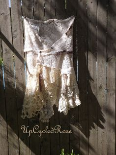 Last Days of Summer Upcycled Wrap Skirt Shabby by UpcycledRose, $123.50